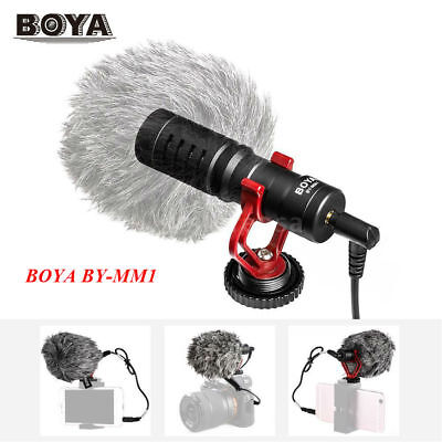 Boya BY-MM1 Portable Condenser Interview Microphone + Windsheid for Camcorders