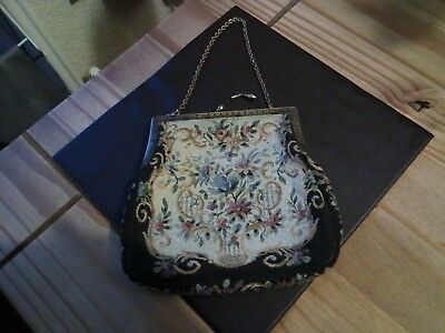 Antique Tapestry cloth purse