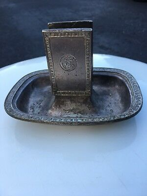 "Antique ""The Breakers"" Hotel Palm Beach Match Holder Striker Cigarettes"