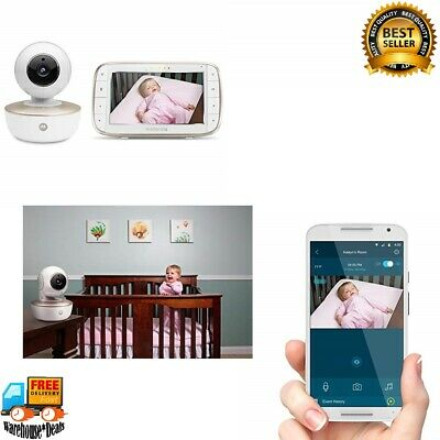 Motorola MBP855CONNECT Portable 5-Inch Color Screen Video Baby Monitor with Wi-F