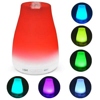 7Color LED Essential Oil Diffuser Ultrasonic Aromatherapy Humidifier Air Freshen