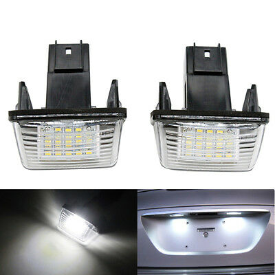 2PCS License Plate Light 18LED for Peugeot 206/207/307/308 Citroen C3/C4/C5/C6