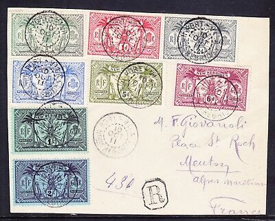 NEW HEBRIDES 1911 SG18/27 1/2d - 2/- on front of cover - superb used