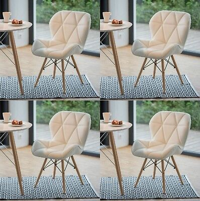 Eiffel Style Dining Chairs Set 4 Seat Vintage Retro Furniture Funky Lounge Chair