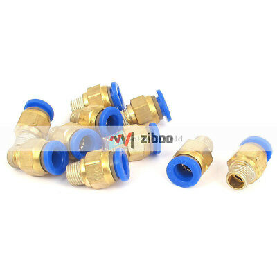 10 Pcs 8mm Tube 1/8BSP Male Thread Quick Air Fitting Coupler Connector