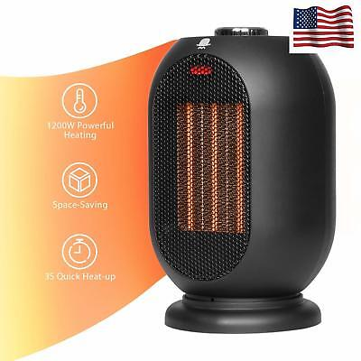 Small Space Heater for Office 1200W/700W Electric Heater Home Ceramic Heater