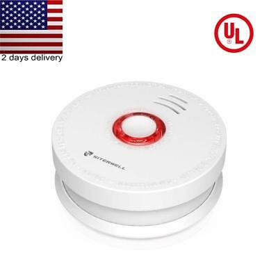 SITERWELL 1Pack Smoke Detector and Battery Operated Smoke and Fire Alarm 10 Year