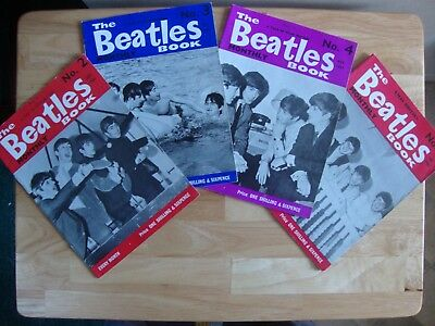 The Beatles Book Monthly magazine issues 2, 3, 4 and  5 - 1963