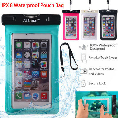 For iPhone 7 8 6s Plus Waterproof Underwater Photo Case Cell Phone Dry Bag Pouch