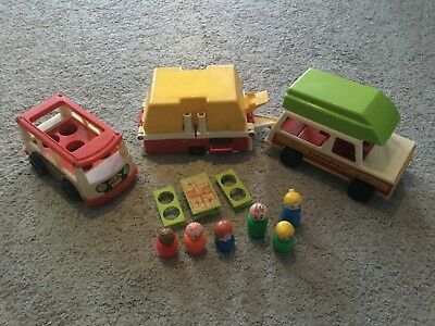 Fisher Price Little People Vintage Campingwagen, Camping Bus