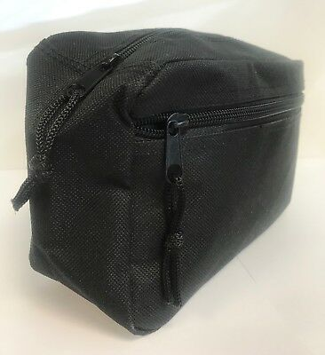 SMALL BLACK TOILETRY Wash / Travel / Holiday / Makeup Zipped Case