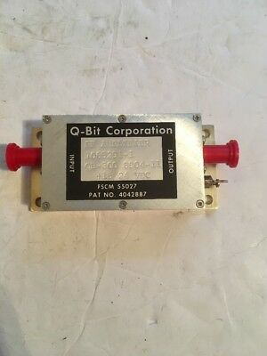 Q-BIT RF Amplifier model QB-300 1-300 MHZ 15-24 VDC (A38cell)