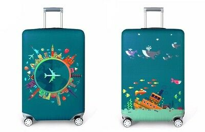 """Elastic Luggage Suitcase Protective Printed Cover Case Travel Accessories 18-32"""""""