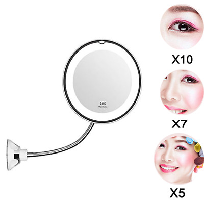 Gooseneck Magnifying Mirror With Light 10X Magnification Bathroom Vanity Mirror