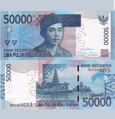 INDONESIA 50000 Rupiah Banknote World Paper Money SUPERB GEM UNC