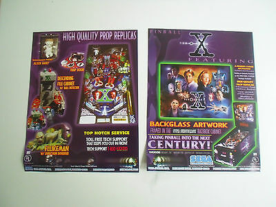 Flyer für X - Files Sega Flipper Pinball