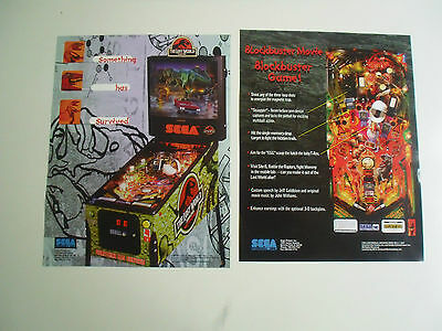 Neuer Flyer für The Lost World Sega Flipper Pinball