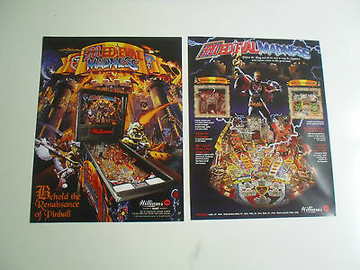 Neuer Flyer für Medieval Madness Bally / Williams Flipper Pinball