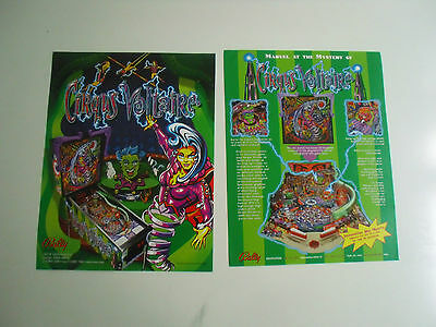 Neuer Flyer für Circus Voltaire Bally / Williams Flipper Pinball