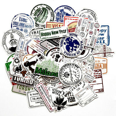 60 Stamp Skateboard Stickers bomb Vinyl Laptop Luggage Decals Dope Sticker lot