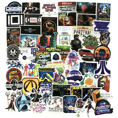 57pcs/lot Ready Player One Stickers For Laptop Motorcycle Skateboard Decal Bomb