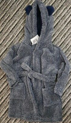 Baby boy Blue Soft Dressing Gown/hood/bath rope/swimming pool,bnwt,12-18,matalan