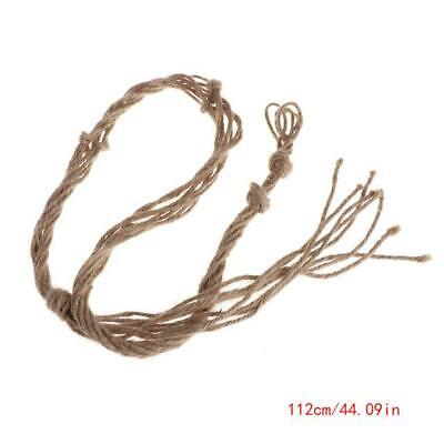 1Pc Hemp Rope Vintage Garden Rope Basket Macrame Plant Hanger Flower Pot Hang...