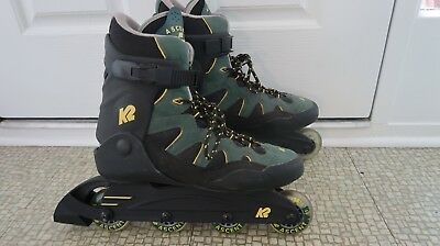 K2 Ascent M Inline Skates Roller Blade Soft Boot Size10 Hardly Worn Mens - VGC