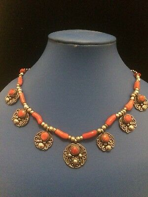 Bijoux Kabyle (Jewelry Kabyle North Afrique ) Coral And Silver