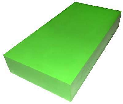 "Plastic Block HDPE  - 2"" x 6"" x 6"" for Machining - Lime Green"