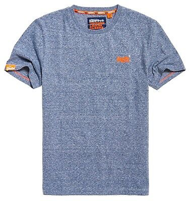 Superdry Orange Label Vintage Emb SS T shirt Tois Blue Heather
