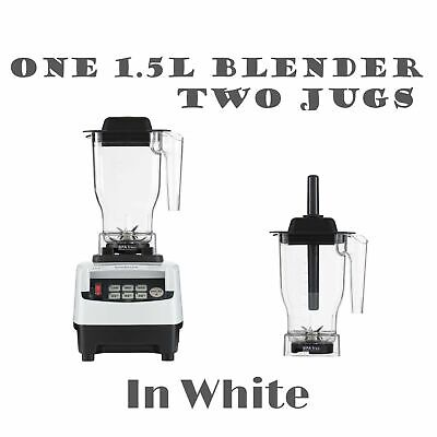 JTC OmniBlend Pro Commercial Blender + 2 Jugs Ice Crusher Smoothie Milkshake Bar