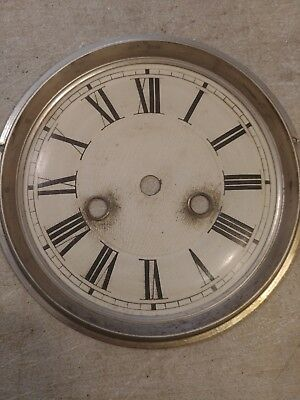 Welch  Parlor Clock Dial From 30 Hour Movement  #1065