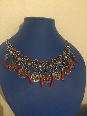 bijoux kabyle(Jewelry Kabyle North Afrique) Silver And Coral