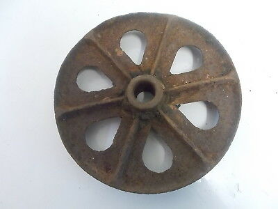 Vintage Cast Iron Wheel 9 1/2""
