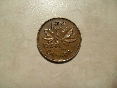 1950 Canada one cent coin