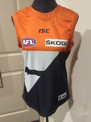 GWS Giants Home Guernsey Greater Western Sydney AFL SIZE L PRELOVED CONDITION