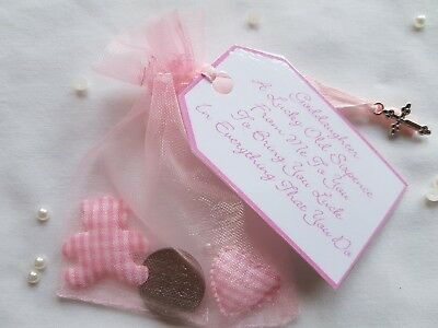 LUCKY SIXPENCE **GODDAUGHTER CHRISTENING DAY GIFT** with Teddy & Heart**