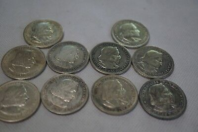 Lot of 10 - 1892 & 1893 Columbian Half Dollar Silver Coins