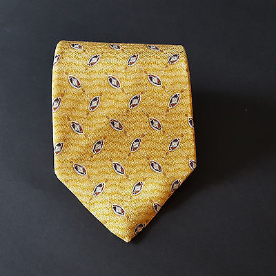 Perry Ellis Collection Yellow Men's Neck Tie 100% Silk Made in USA