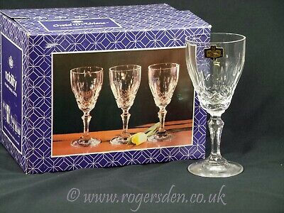 Crystal Glass  Crystal D'Adriana 24% Lead Crystal Wine or Sherry Glasses