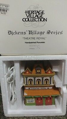 NIB HERITAGE VILLAGE COLLECTION DICKENS SERIES DEPT 56 THEATRE ROYAL #5584-0 ps