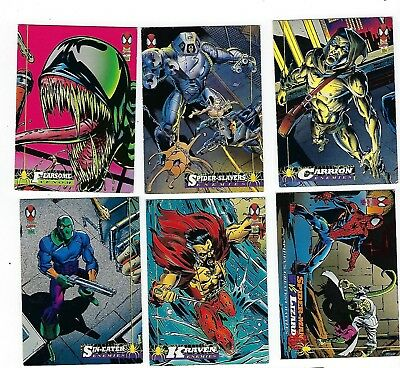 Spider-man (1994) trading card singles (Lot of 6)