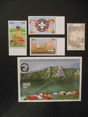 Ghana 1991 Baden-Powell Anniversary MNH, Scout, Badge, Camp, Norman Rockwell