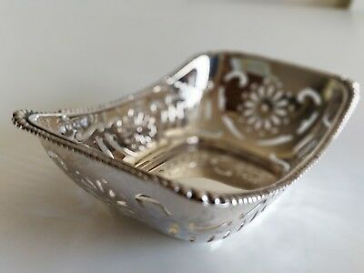 Small Silver Butter Dish Charles S Green & Co Ltd 1927