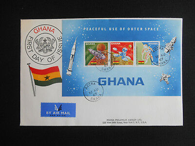 Ghana 1967 Peaceful Use of Outer Space SG MS482 Luna 10, Orbiter 1, Space Walk