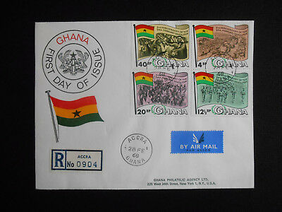 Ghana 1968 FDC 2nd Anniversary of the Revolution SG 497-500 (see photos)
