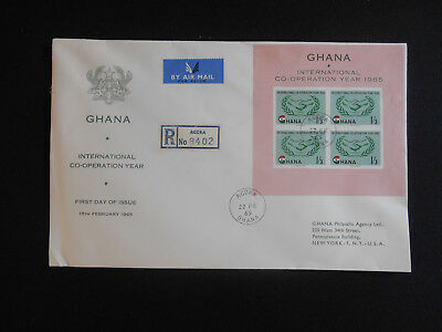 Ghana 1965 FDC International Co-Operation Year ICY Sheet SG MS368a, see photos