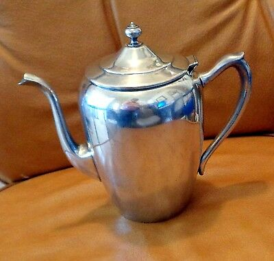 F.B. Rogers Silver on Copper Teapot / Vintage with Hinged Lid  / # 2311