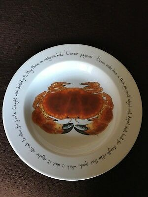 Richard Bramble for Jersey Pottery Crab Large Serving Plate